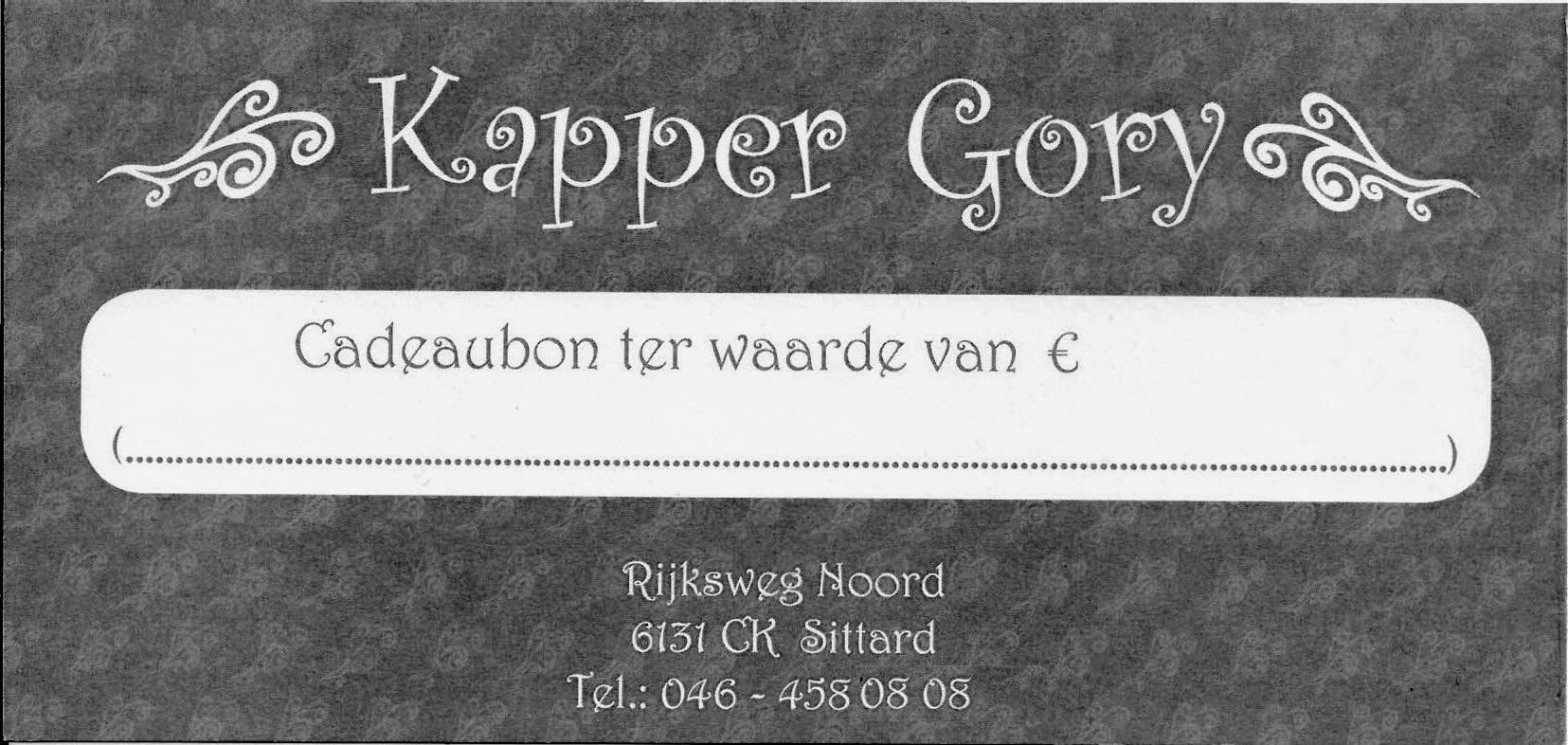 Kapper Gory Cadeaubon